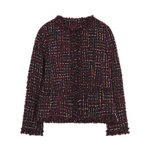 Buy Gerard Darel Surrey Jacket, Dark Red Online at johnlewis.com