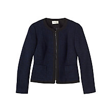 Buy Precis Petite Eva Boucle Jacket, Navy Online at johnlewis.com
