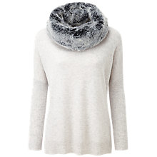 Buy Pure Collection Diana Cashmere Poncho, Iced Grey Online at johnlewis.com