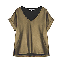 Buy Gerard Darel Amana Blouse, Gold Online at johnlewis.com