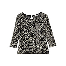 Buy Precis Petite Jocelyn Jersey Lace Top, Multi/Black Online at johnlewis.com