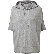 Buy Pure Collection Juliette Hooded Poncho, Heather Grey Online at johnlewis.com