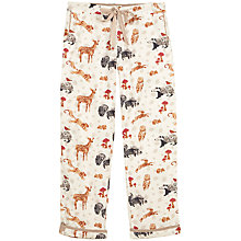 Buy Fat Face Forest Friends Trousers, Ivory Online at johnlewis.com