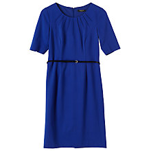 Buy Precis Petite Katherine Ponte Dress, Cobalt Online at johnlewis.com