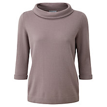 Buy Pure Collection Eade Bardot Jumper, Smokey Rose Online at johnlewis.com