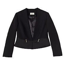 Buy Precis Petite Rasha Satin Jacket, Black Online at johnlewis.com