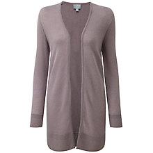 Buy Pure Collection Jasmine Gassato Cashmere Rib Longline Cardigan, Smokey Rose Online at johnlewis.com