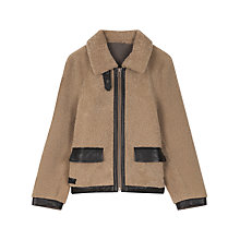 Buy Gerard Darel Cocon Sheepskin Coat, Coffee Online at johnlewis.com