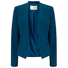 Buy Jacques Vert Petite Angular Edge Jacket, Dark Green Online at johnlewis.com