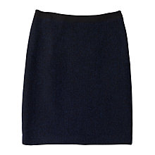 Buy Precis Petite Boucle Pencil Skirt, Navy Online at johnlewis.com