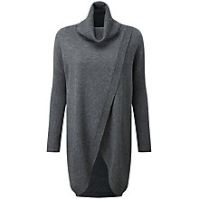Buy Pure Collection Rose Split Front Tunic Jumper, Soft Charcoal Online at johnlewis.com
