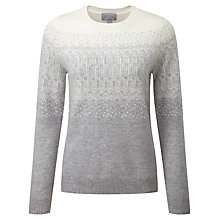 Buy Pure Collection Everly Fairisle Cashmere Jumper, Heather Dove/Soft White Online at johnlewis.com