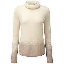 Buy Pure Collection Aimee Fairisle Cashmere Jumper, Natural White/Taupe Online at johnlewis.com