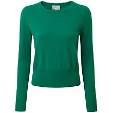 Buy Pure Collection Nylah Cashmere Crop Jumper, Juniper Online at johnlewis.com