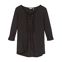 Buy Fat Face Lace Up Top, Phantom Online at johnlewis.com
