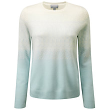 Buy Pure Collection Arianna Cashmere Jumper, Opal/Soft White Online at johnlewis.com