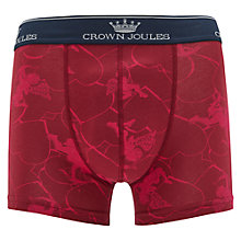 Buy Joules Be My Beau Valentines Trunks, Deep Raspberry Online at johnlewis.com