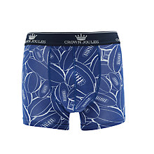 Buy Joules Odd Shaped Balls Rugby Print Trunks, Blue Online at johnlewis.com