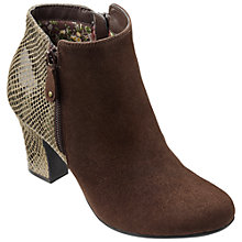 Buy Hotter Divine Block Heeled Ankle Boots, Dark Brown Comb Online at johnlewis.com
