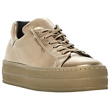 Buy Dune Black Export Flatform Trainers, Bronze Leather Online at johnlewis.com