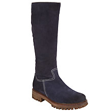 Buy John Lewis Trina Knee High Boots, Navy Online at johnlewis.com