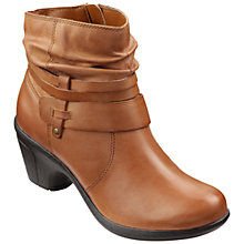 Buy Hotter Danville Block Heeled Ankle Boots, Dark Tan Online at johnlewis.com