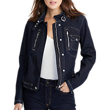 Buy Lauren Ralph Lauren Delosha Denim Jacket, Indigo Wash Online at johnlewis.com
