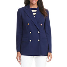 Buy Lauren Ralph Lauren Double-Breasted Wool Blazer, Navy Online at johnlewis.com