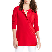 Buy Lauren Ralph Lauren Suzette Top, Brilliant Red Online at johnlewis.com