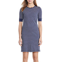 Buy Lauren Ralph Lauren Stripe Dress, Navy/Antique Ivory Online at johnlewis.com
