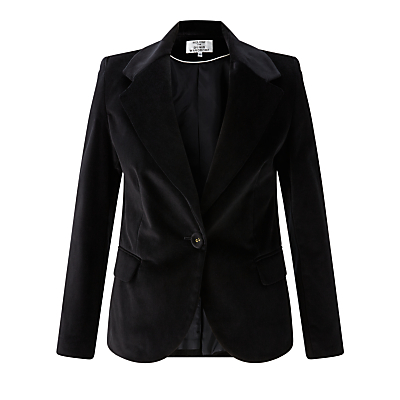 Helene For Denim Wardrobe Velvet Blazer, Black