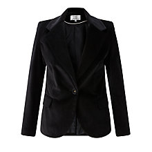 Buy Helene For Denim Wardrobe Velvet Blazer, Black Online at johnlewis.com
