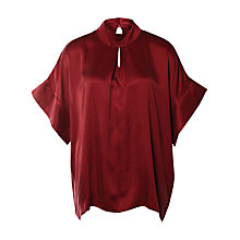 Buy Selected Femme Brooke Blouse, Cabernet Online at johnlewis.com