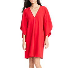 Buy Lauren Ralph Lauren V-Neck Dress, Brilliant Red Online at johnlewis.com