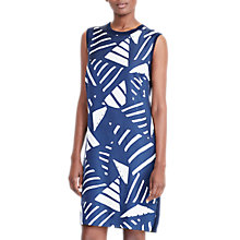 Buy Lauren Ralph Lauren Sleeveless Printed Dress, Navy/White Online at johnlewis.com