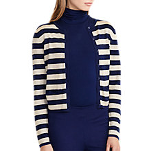 Buy Lauren Ralph Lauren Stripe Metallic Cardigan, Navy/Gold Online at johnlewis.com