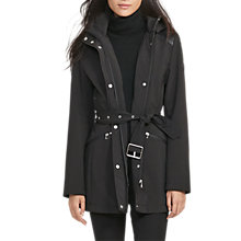 Buy Lauren Ralph Lauren Hooded Trench Coat, Black Online at johnlewis.com