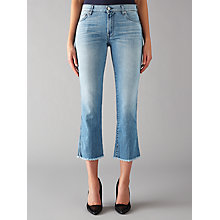Buy 7 For All Mankind Cropped Bootcut Jeans, Vintage Light Online at johnlewis.com