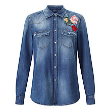 Buy 7 For All Mankind Embroidered Flower Shirt, Multi Online at johnlewis.com