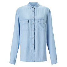 Buy 7 For All Mankind Uniform Shirt, Light Indigo Online at johnlewis.com