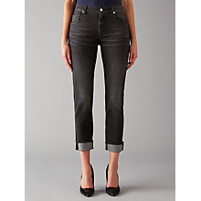 Buy 7 For All Mankind Relaxed Skinny Boyfriend Jeans, New York Black Online at johnlewis.com