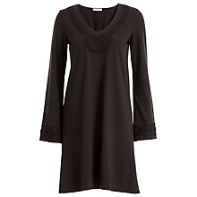 Buy Max Studio Embroidered Ponte Dress, Black Online at johnlewis.com