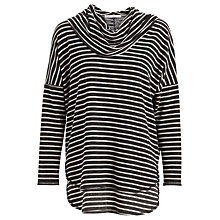 Buy Max Studio Cowl Neck Stripe Jersey Top, Black/Natural Online at johnlewis.com