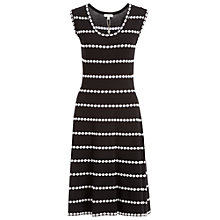 Buy Max Studio Sleeveless Knit Dress, Black/Ivory Online at johnlewis.com