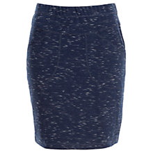 Buy Max Studio Space Dyed Ponte Skirt, Navy/Ivory Online at johnlewis.com