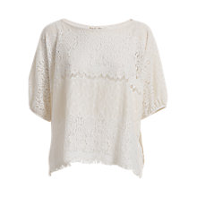 Buy Max Studio Lace Top, Ivory Online at johnlewis.com