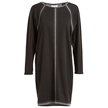 Buy Max Studio Long Sleeve Jersey Dress, Black/Heather Charcoal Online at johnlewis.com