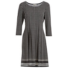 Buy Max Studio Spot Print Jersey Dress, Black/Ivory Online at johnlewis.com