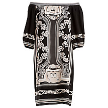 Buy Max Studio Off Shoulder Printed Dress, Black/Ivory Online at johnlewis.com
