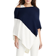Buy Lauren Ralph Lauren Teerak Poncho, Navy/Antique Ivory Online at johnlewis.com